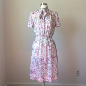 Dresses & Skirts - Vintage 80s homemade pink floral prairie dress S
